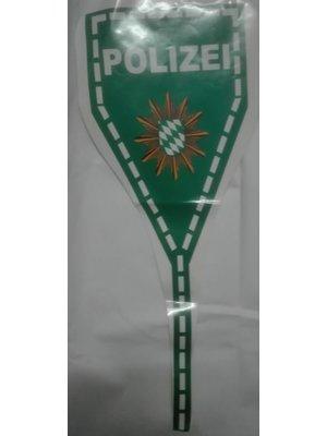 Buffalo Politie-sticker voor de spoiler. POLIZEI-groen