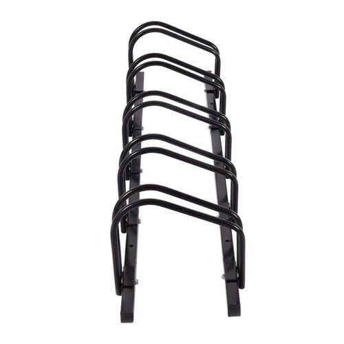 Import Fietsenrek voor 5 fietsen, zwart staal.