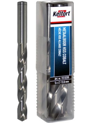 Kelfort HSS metaalboor 3.1mm,  5% cobalt, blankgeslepen
