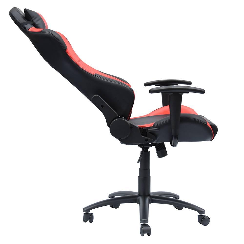 Bureaustoel gamestoel Manchester zwartrood KoopNietDuur