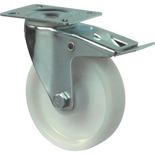 Kelfort Zwenkwiel 190mm, polyamide wiel en rem