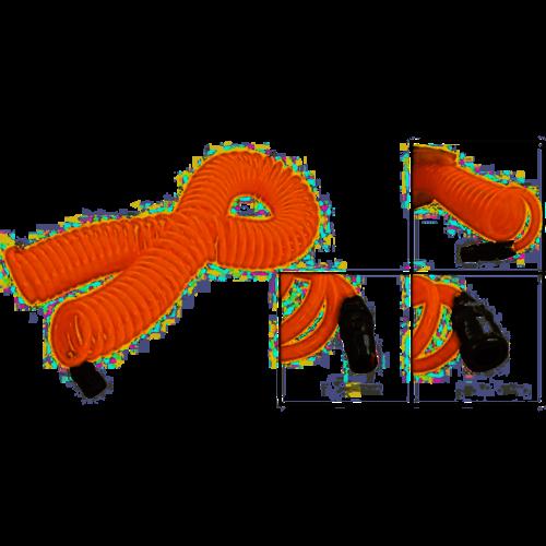 Benson Benson compressor spiraal luchtslang, 6mtr