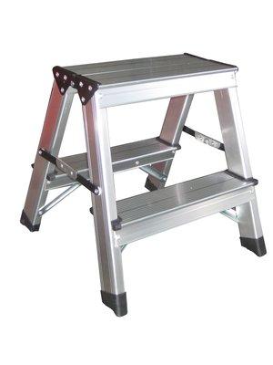 Benson Dubbelzijdige aluminium trap 2x2 treden. max 150kg