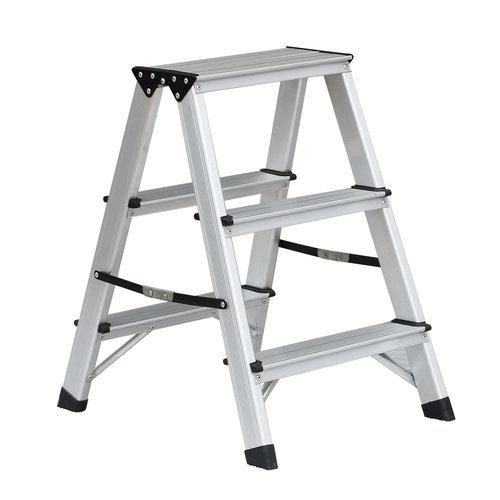 Benson Dubbelzijdige aluminium trap 2x3 treden. max 150kg