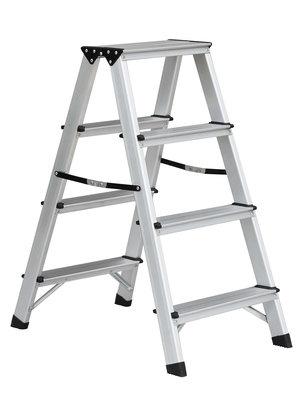 Benson Dubbelzijdige aluminium trap 2x4 treden. max 150kg