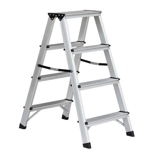 Benson Benson Dubbelzijdige aluminium trap 2x4 treden. max 150kg