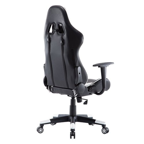 Alora Monaco bureaustoel / gamestoel wit in raceseat-stijl