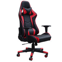 Monaco bureaustoel / gamestoel rood in raceseat-stijl