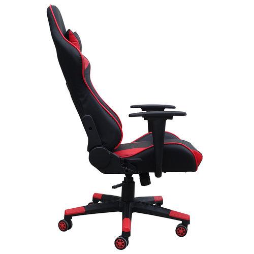 Alora Monaco bureaustoel / gamestoel rood in raceseat-stijl