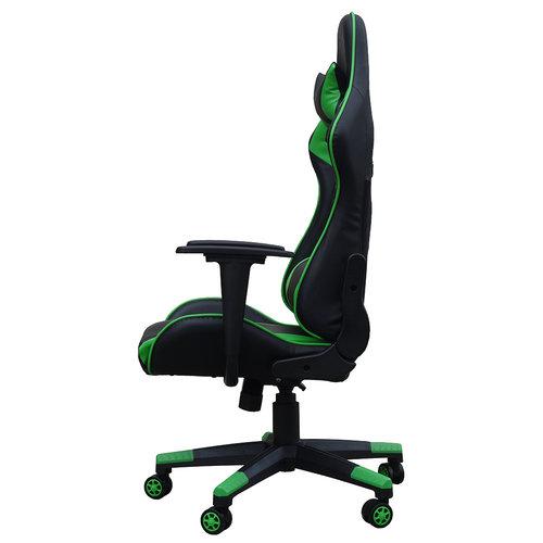 Alora Monaco bureaustoel / gamestoel groen in raceseat-stijl