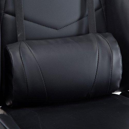 Alora Monaco bureaustoel / gamestoel zwart in raceseat-stijl