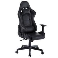 Monaco bureaustoel / gamestoel zwart in raceseat-stijl