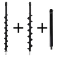 Kibani grondboren set 60 mm + 80 mm + verlengstuk