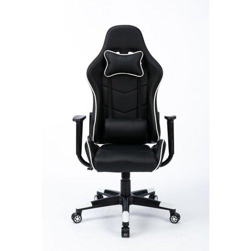 Alora Gamestoel Racer zwart/wit