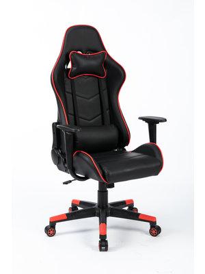 Alora Gamestoel Racer zwart/rood