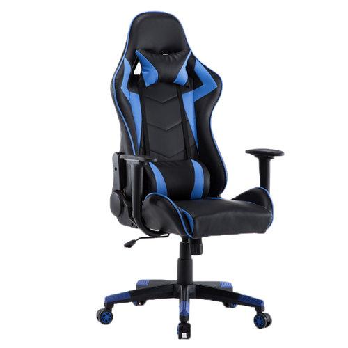 Alora Monaco bureaustoel / gamestoel blauw in raceseat-stijl