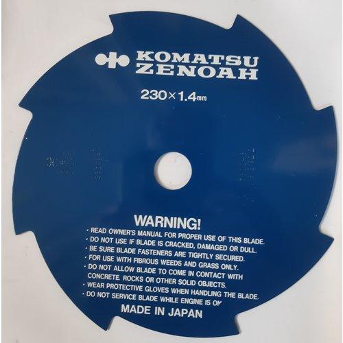 Komatsu Zenoah Bosmaaierblad 8t - 230 mm - 25 4