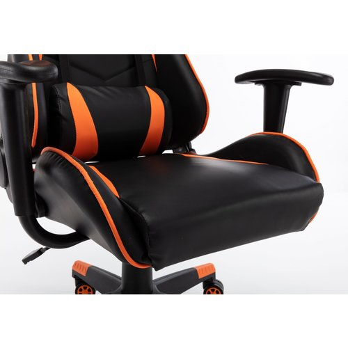 Alora Monaco bureaustoel / gamestoel oranje  in raceseat-stijl