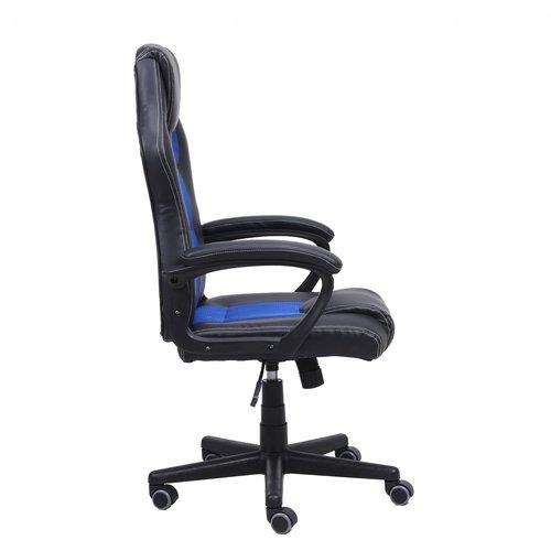 Import Little Bitch bureaustoel / gamestoel blauw in raceseat-stijl