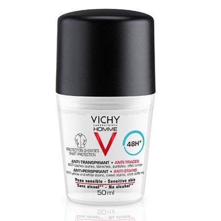 Vichy Vichy Homme Anti-Transpirant Deodorant Roller Tegen Vlekken 48 uur