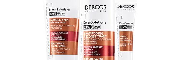 Dercos Kera-Solutions voor beschadigd haar