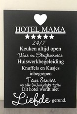 Tekstbord Hotel mama