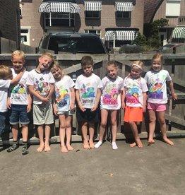 Kinderfeestje T shirt in kleuren