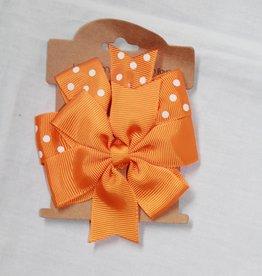 Haarspeldjes strik oranje set
