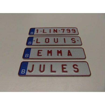 Funplaat Miniplaatje België - Funplaatje - Nummerplaat 170 x 40 mm