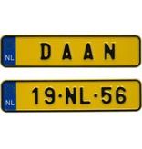 Funplaat Miniplaatje NL - Funplaatje - Nummerplaat 170 x 40 mm