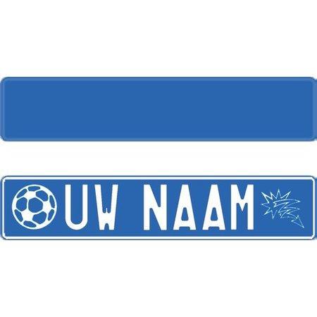 Funplaat Funplaat Blauw  Reflex- Op Naam 520 x 112