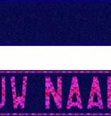 Funplaat Funplaat Glitter Blauw - Op Naam 520 x 112