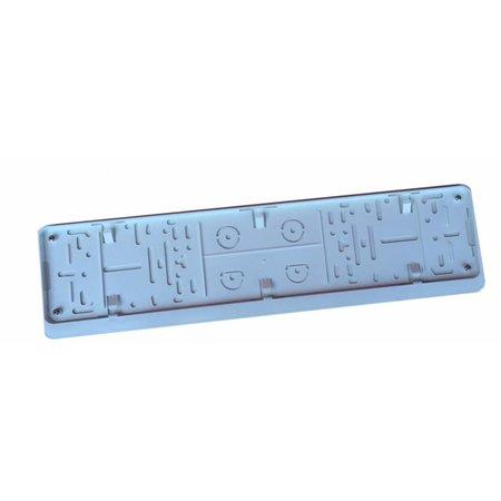 Kader WIT met boord (ABS) voor nummerplaat 520x110mm