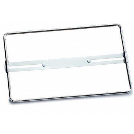 Vierkante Plaathouder CHROME (Metaal) voor nummerplaat 340 x 210mm
