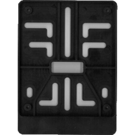 (Brom)Fietsplaathouder ZWART (ABS) voor nummerplaat 100 x 120mm
