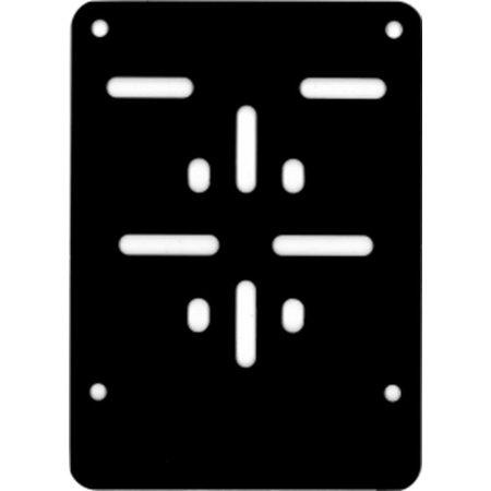 (Brom)Fietsplaathouder ZWART (ALU) voor nummerplaat 100 x 120mm
