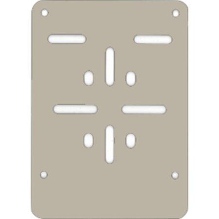 (Brom)Fietsplaathouder ZILVER (ALU) voor nummerplaat 100 x 120mm