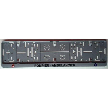 Kader POMPIER - AMBULANCIER voor nummerplaat 520x110mm