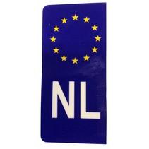 Sticker NL voor kentekenplaat