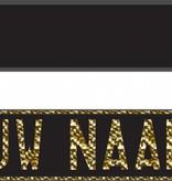 Funplaat Funplaat Zwart - Op Naam 520 x 112