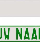 Funplaat Funplaat Chrome (spiegeleffect) - Op Naam 520 x 112