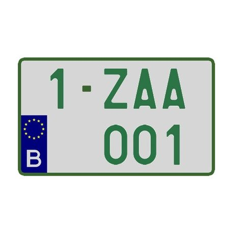 Handelaar Nummerplaat (Vierkant) 340 x 210mm GROEN