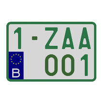 Handelaar Nummerplaat (Moto)