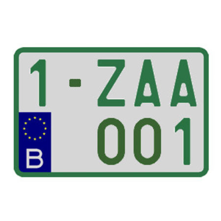 Handelaar Nummerplaat (Moto) 210 x 140mm GROEN
