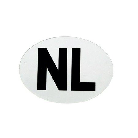 Sticker NL wit 112x80mm