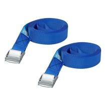 Spanband blauw met snelsluiting 2x2.5 meter