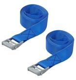 ProPlus Spanband blauw met snelsluiting 2x2.5 meter