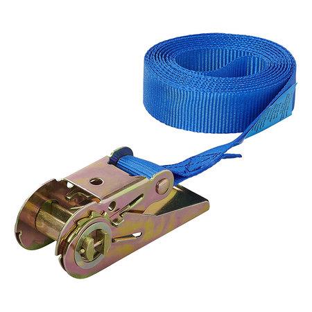 ProPlus Spanband blauw met ratel 3,5 meter