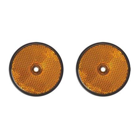 ProPlus Reflector oranje 60mm schroefbevestiging 2 stuks