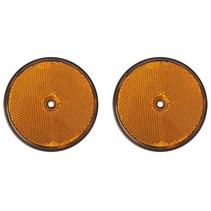 Reflector oranje 80mm schroefbevestiging 2 stuks